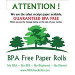 Window Sticker BPA Free Paper Rolls .. www.BPAFreeRolls.com