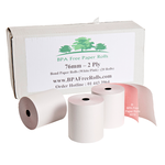 2ply_kitchen_printer_rolls_white/pink.png, 2_ply_roll_for_kitchen_printers.png, 2_ply_roll_white_pink_for_Impact_printers.png,  white/pink_2_ply_till_rolls.png