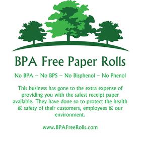Customer meassage printed lightly on the back of rolls .. www.BPAFreeRolls.com