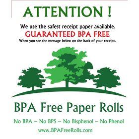 PAX S910 BPA Free Rolls window sticker .. www.BPAFreeRolls.com