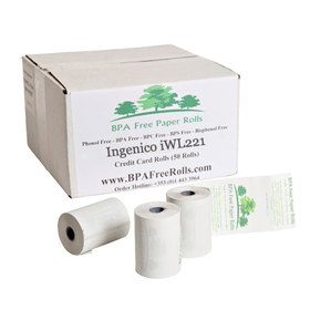 Ingenico iWL221 Credit Card Till Rolls (50 Rolls)