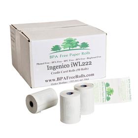 Ingenico iWL222 Credit Card Paper Rolls (50 Rolls)