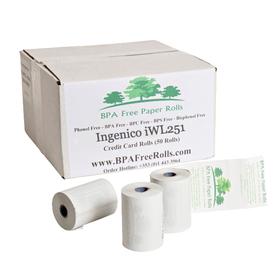 Ingenico iWL251 Credit Card Paper Rolls (50 Rolls)