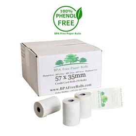 57x35mm BPA Free Credit Card Rolls (50 Roll Box)
