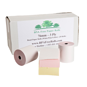 76x76 3 Ply. (White/Yellow/Pink) 20 Roll Box