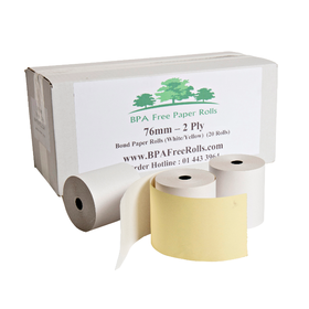 "76x70 2 Ply Grade ""A"" Paper (20 Roll Box)"