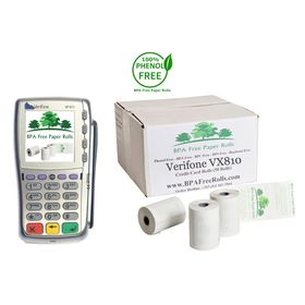 Verifone VX810 Credit Card Rolls (50 Rolls)